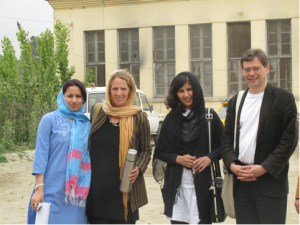Dr. Fareshta, Inge Missmahl, Zohra Bromand, Prof. Heinz in the Mental Health Hopsital Kabul